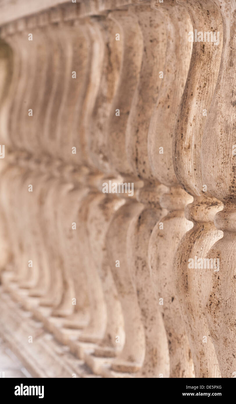 Italian architecture stone carvings abstract - Stock Image
