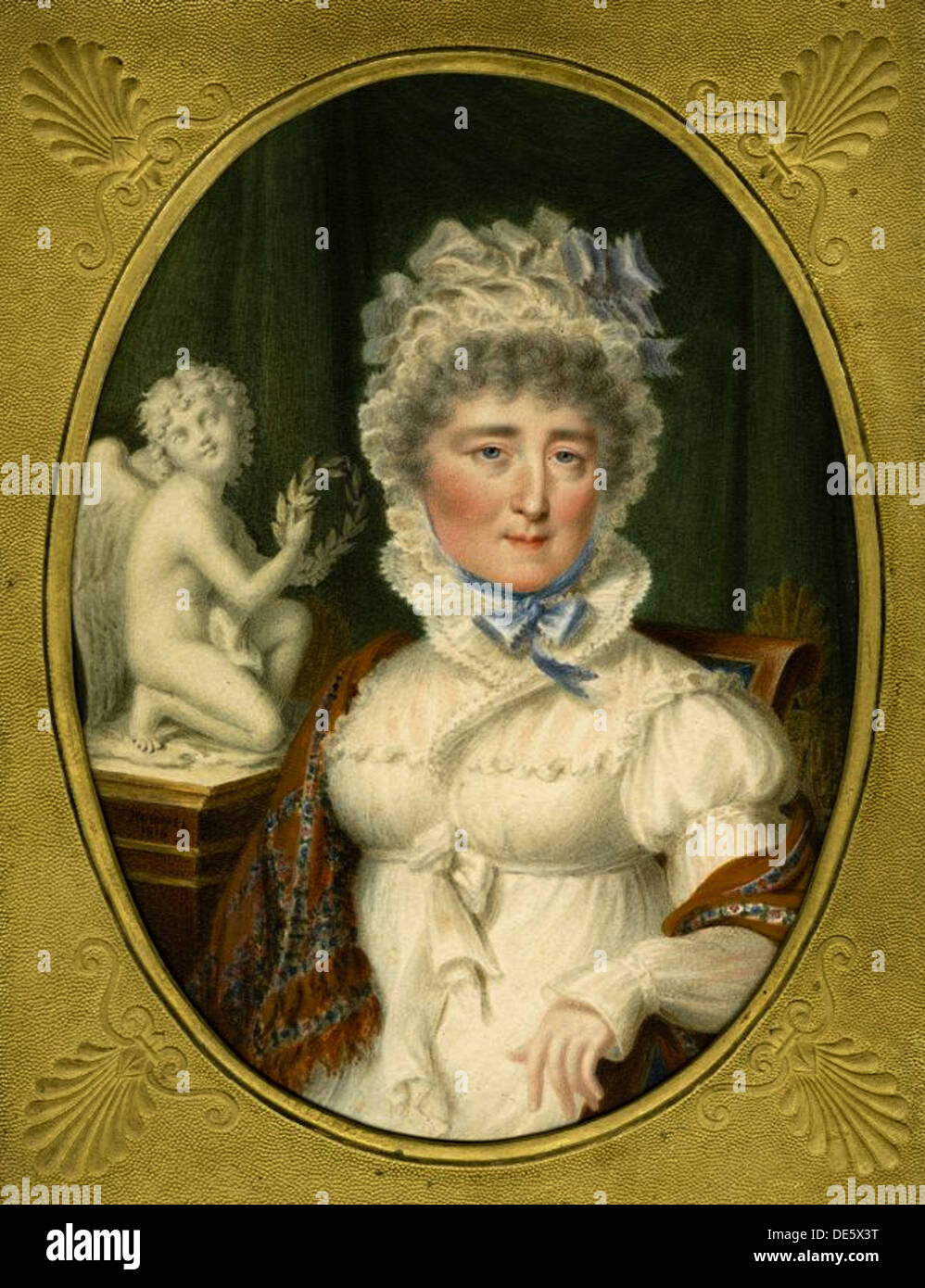 Portrait of Princess Elzbieta Izabela Lubomirska (née Countess Czartoryska) (1736-1816), 1816. Artist: Hummel, Carl (1769-1840) - Stock Image