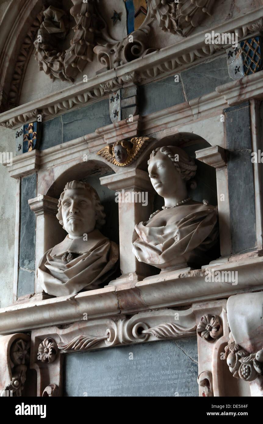 William Wollaston memorial, St. John the Divine Church, Shenton, Leicestershire, England, UK - Stock Image