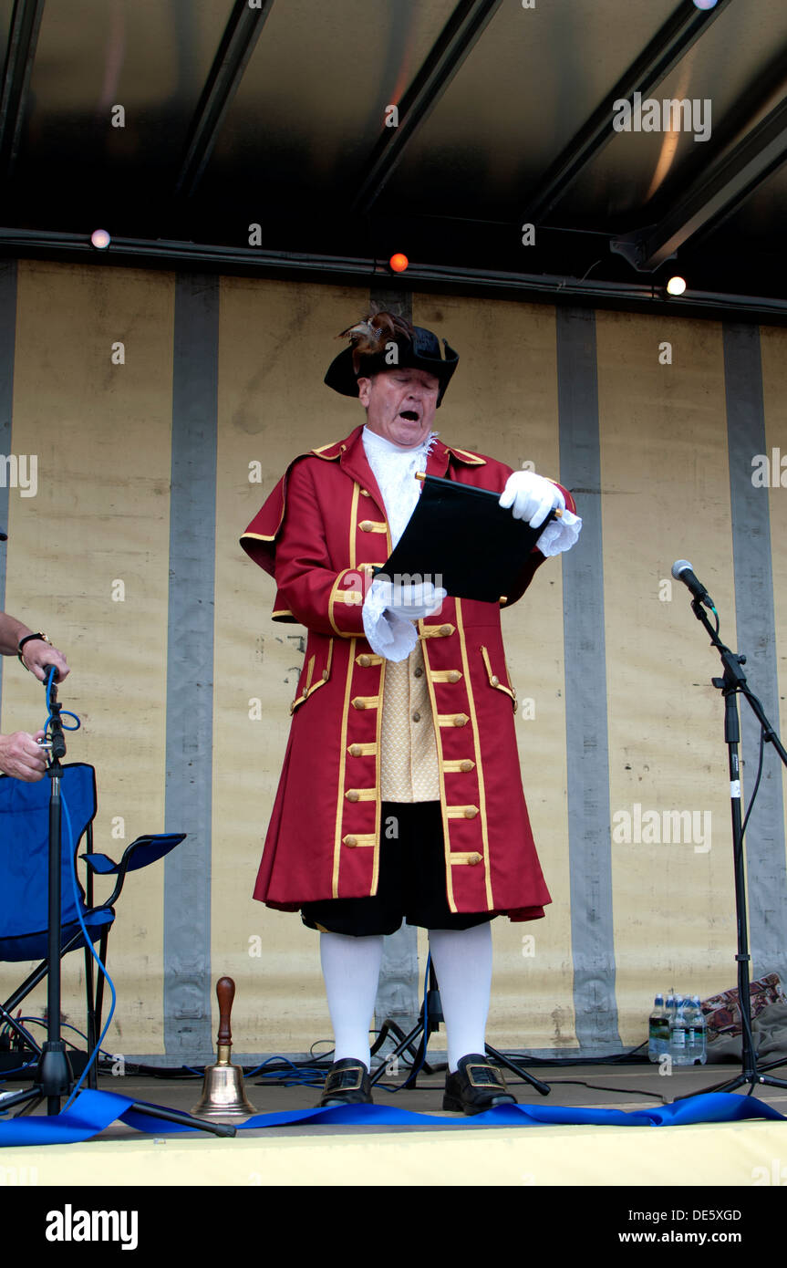 Stow-on-the-Wold town crier Stock Photo