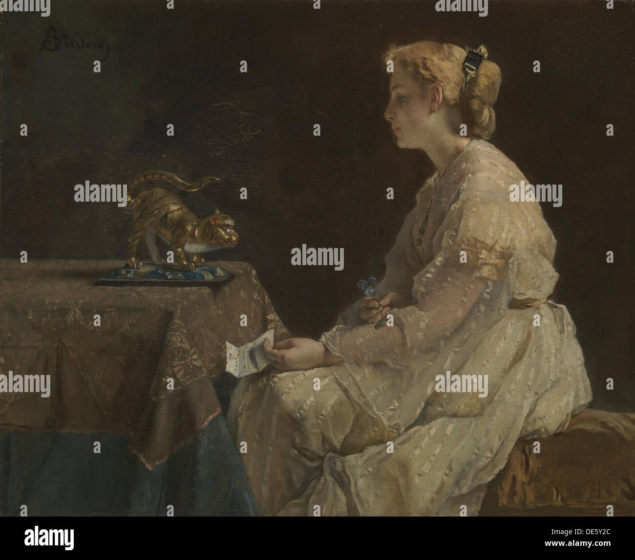 The Present, c. 1870. Artist: Stevens, Alfred (1823-1906) - Stock Image