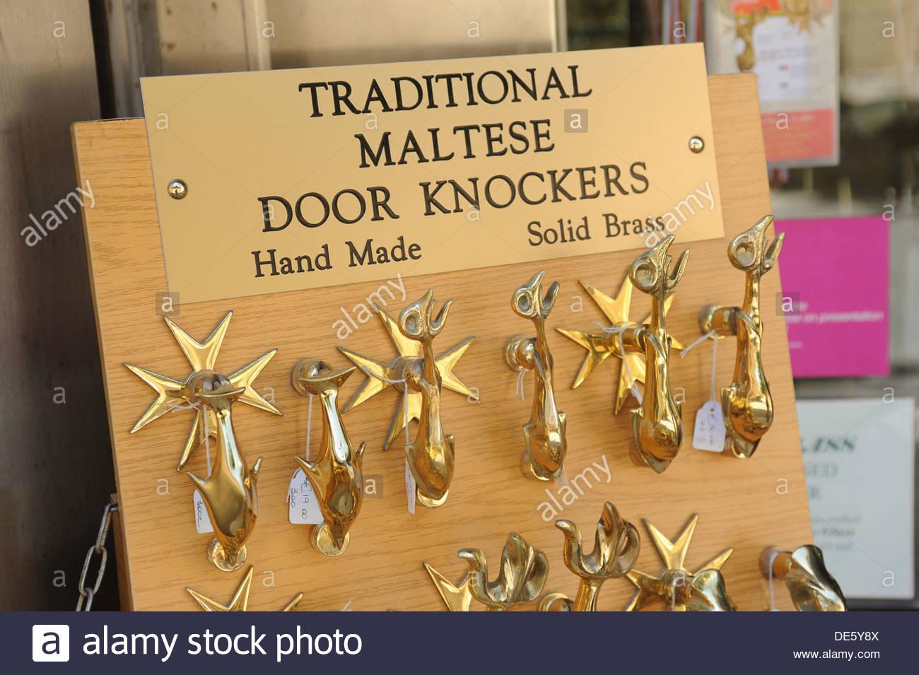 Traditional Brass Maltese Door Knockers.