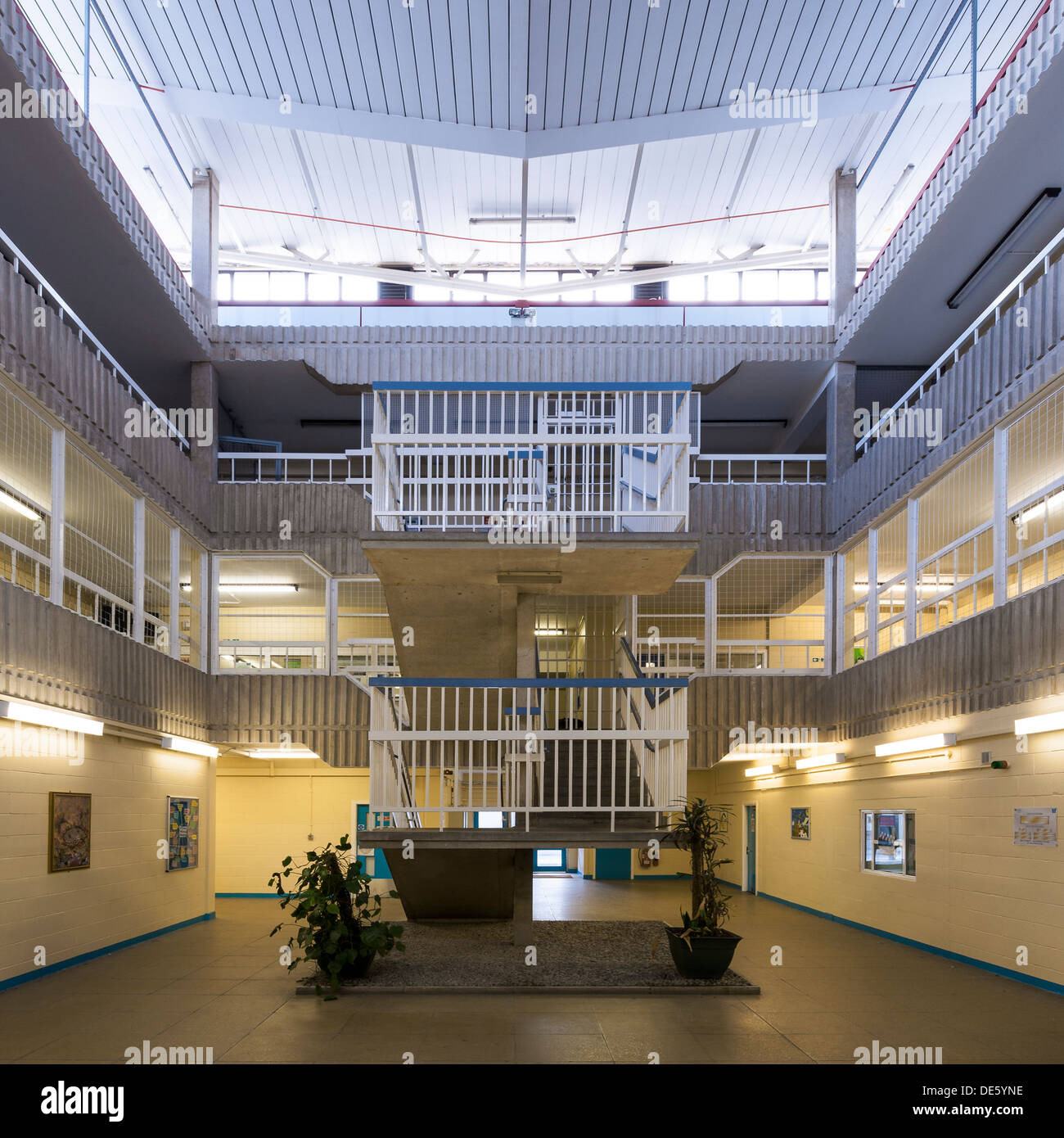 The interior of an activities building within one of Her Majesty's Prisons in Lancashire in the UK. - Stock Image