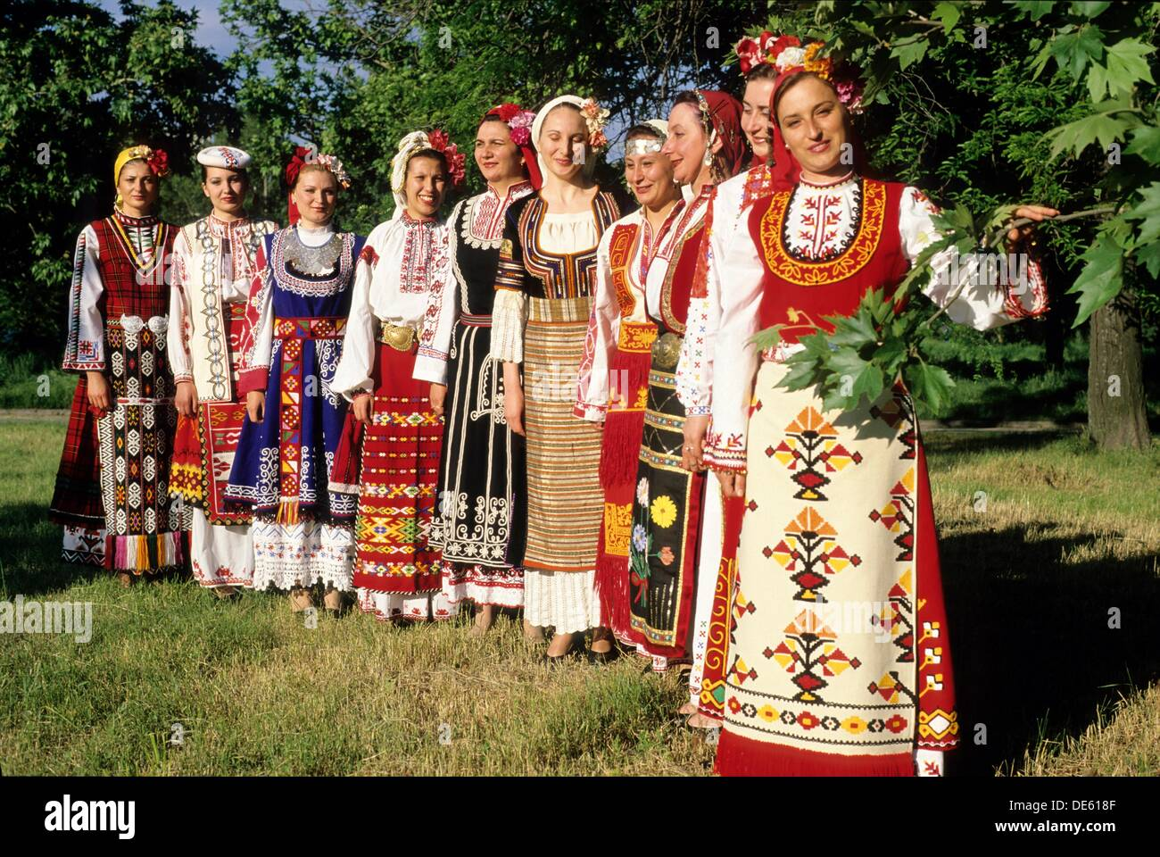 Cosmic Voices from Bulgaria are one of the most popular bulgarian folk choirs, Bulgaria, Europe - Stock Image