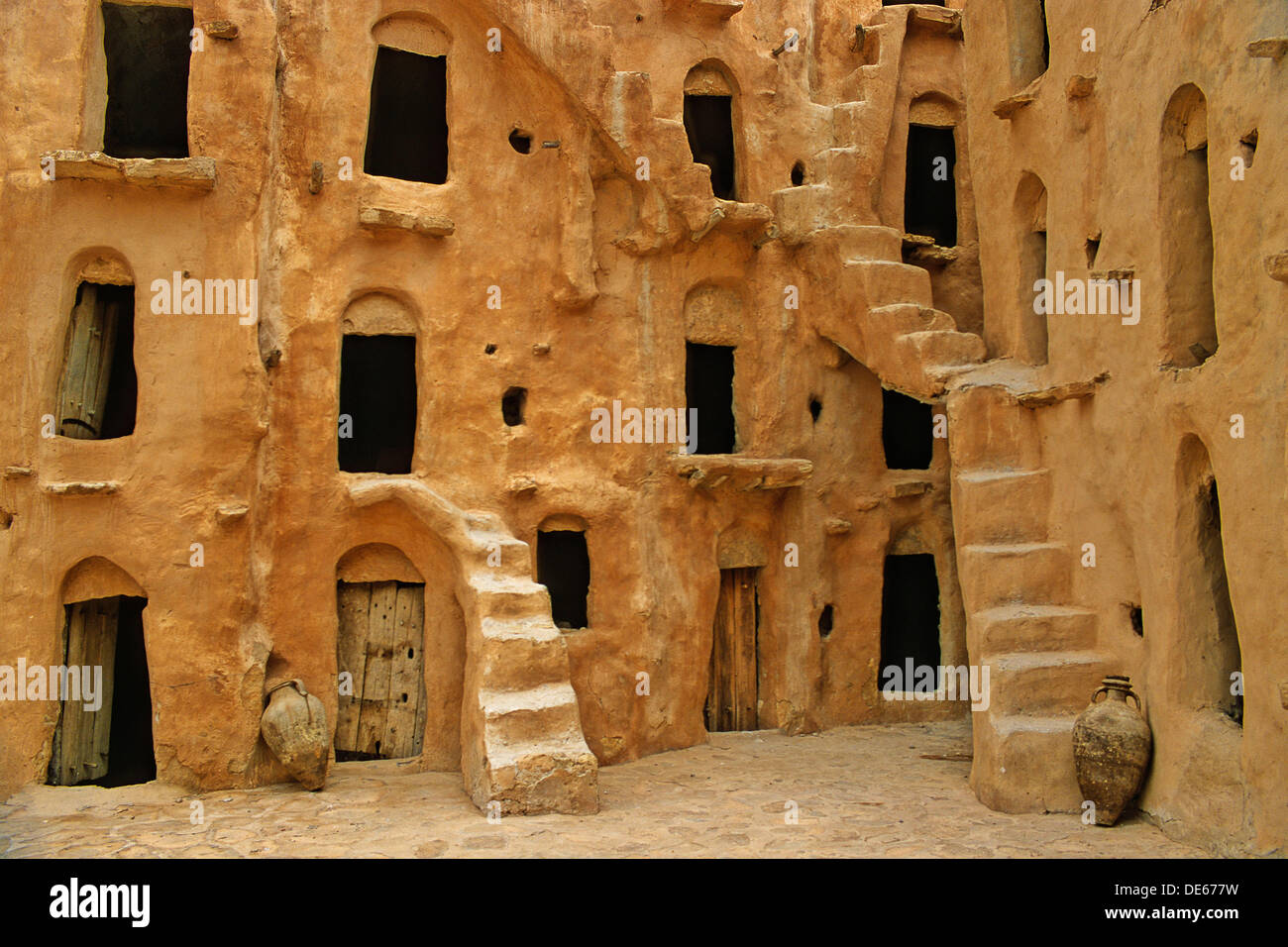 Tunisia, near Tataouine, Ksar Ouled Soltane, fortified barn Stock Photo