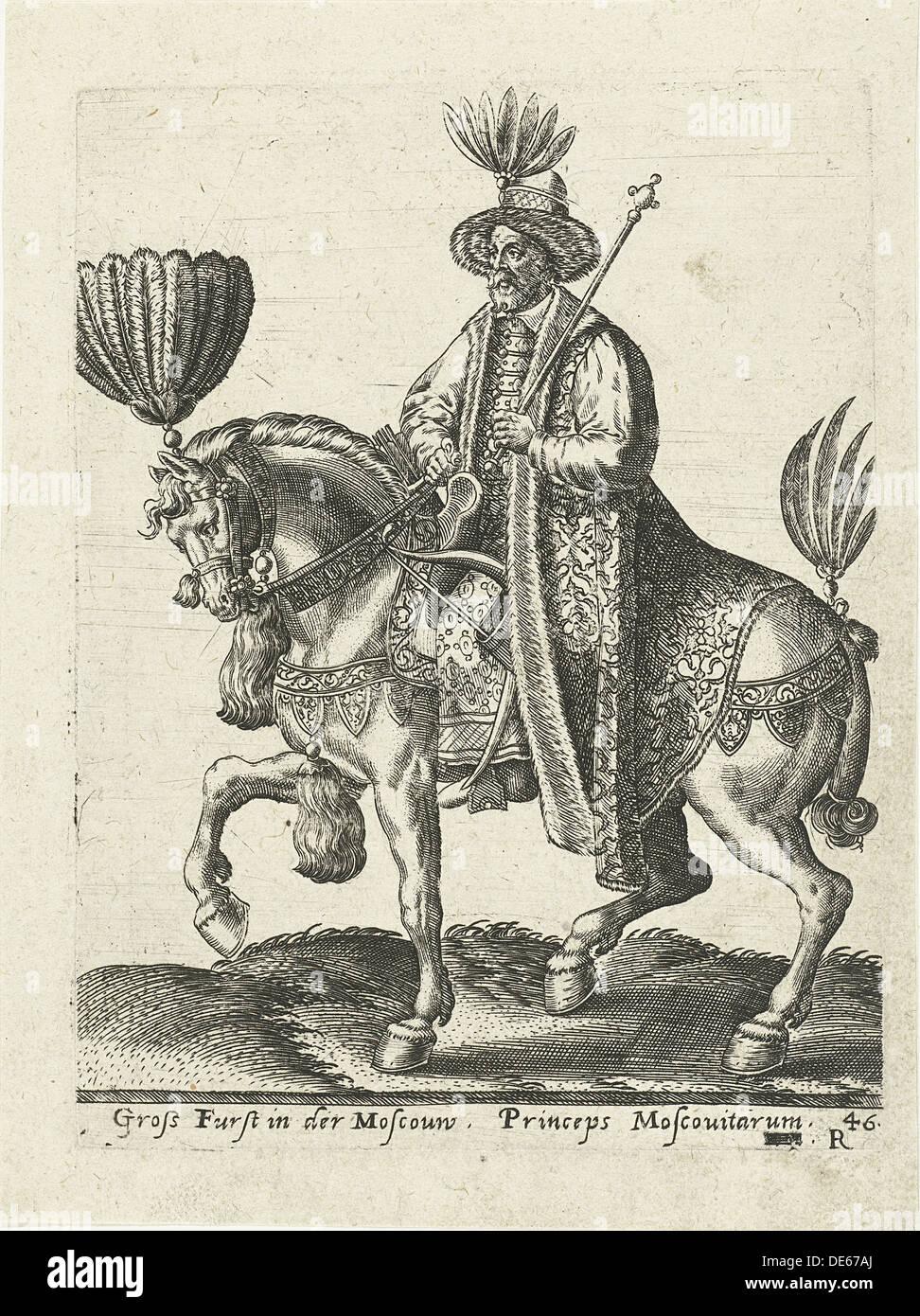 Grand Duke of Muscovy, 1577. Artist: Bruyn, Abraham de (1540-1587) - Stock Image