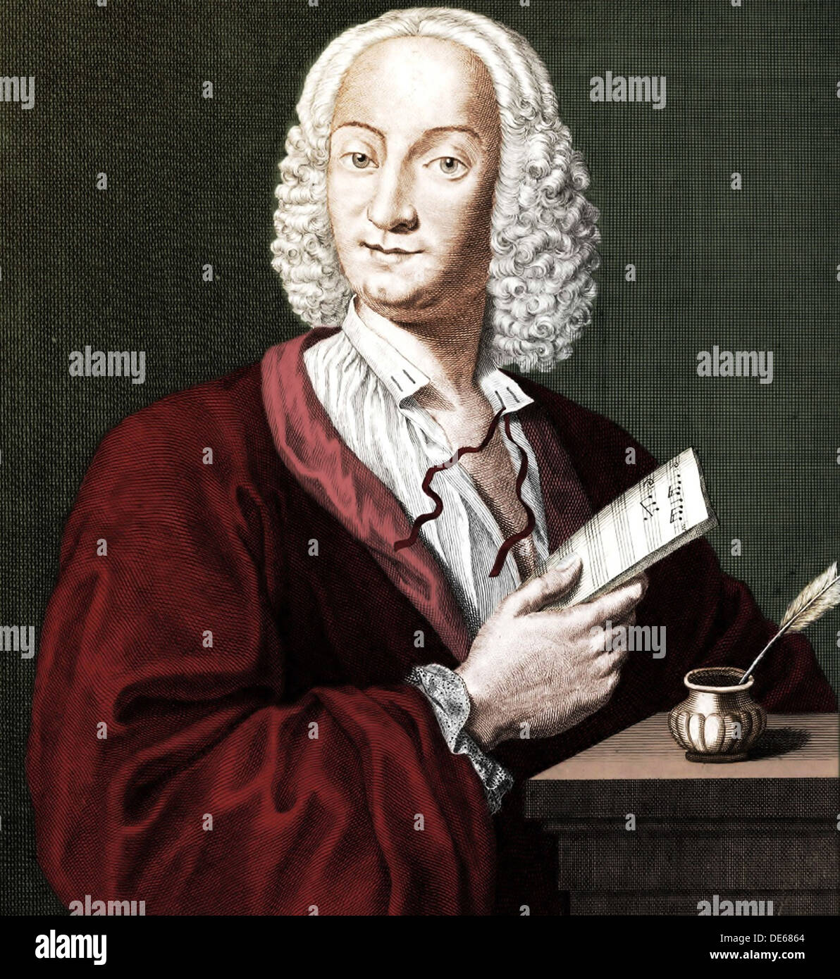 Antonio Vivaldi (1678-1741), 1725. Artist: Morellon de la Cave, François (ca 1700-1755) - Stock Image
