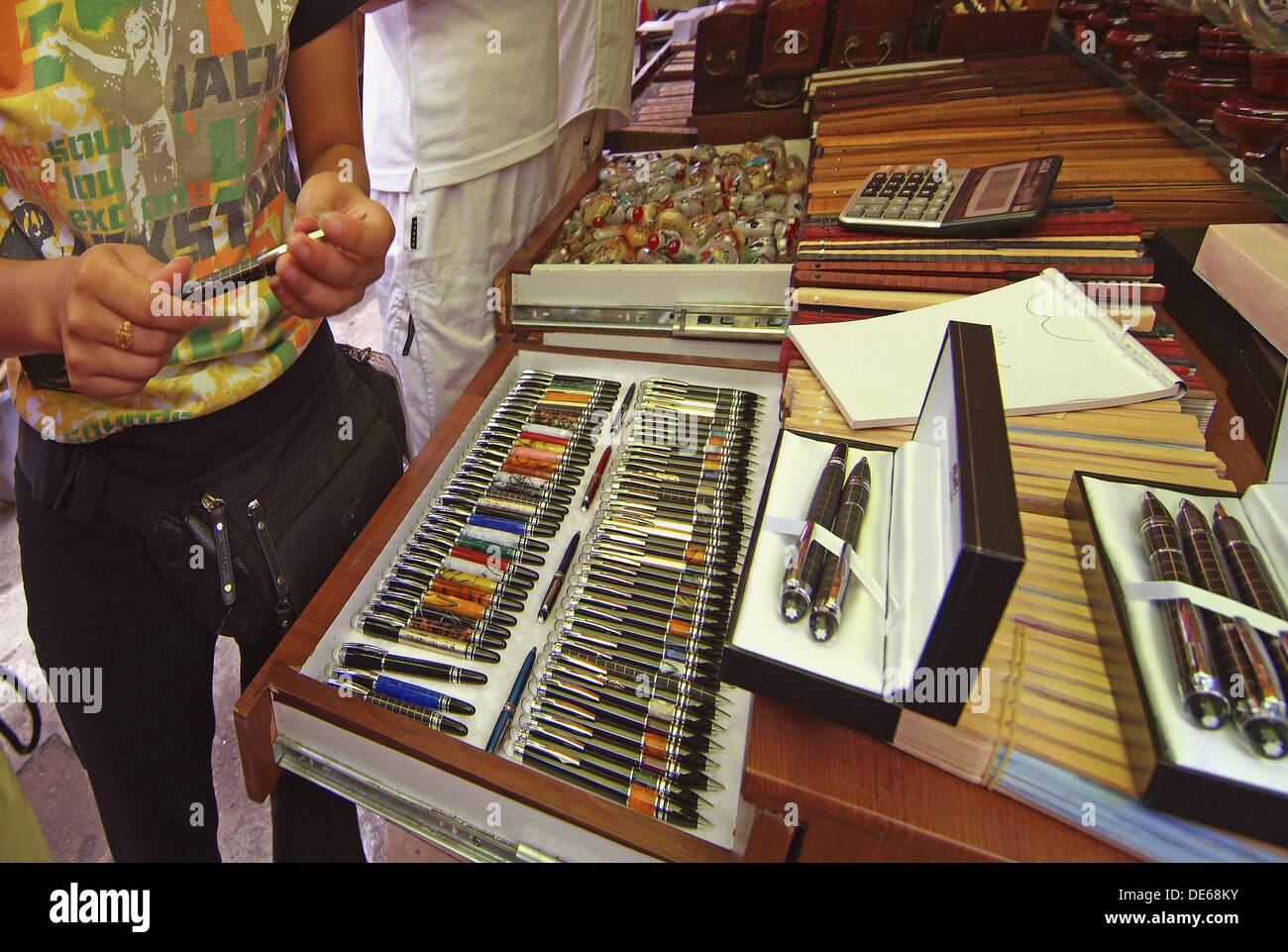 Market of imitation brand goods, Shanghai, China - Stock Image