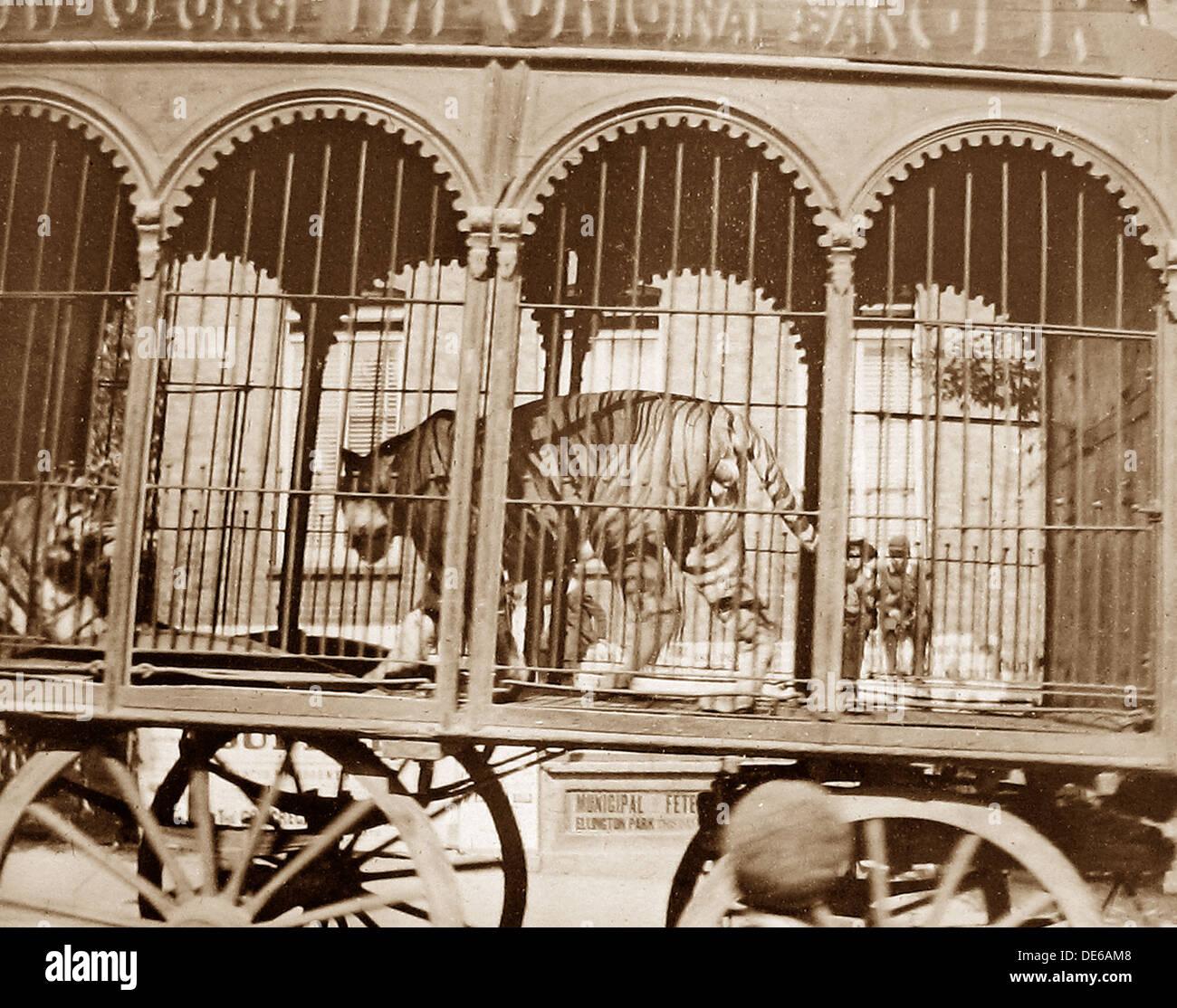 Barnum's Circus in Ramsgate in 1899 - Stock Image