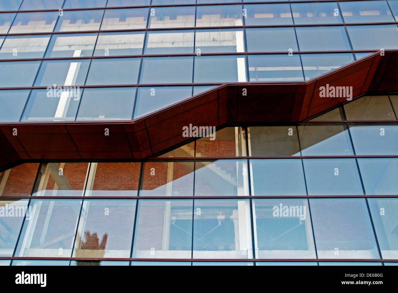 glass, Can Bertran, Sant Feliu de Llobregat, Catalonia, Spain. - Stock Image