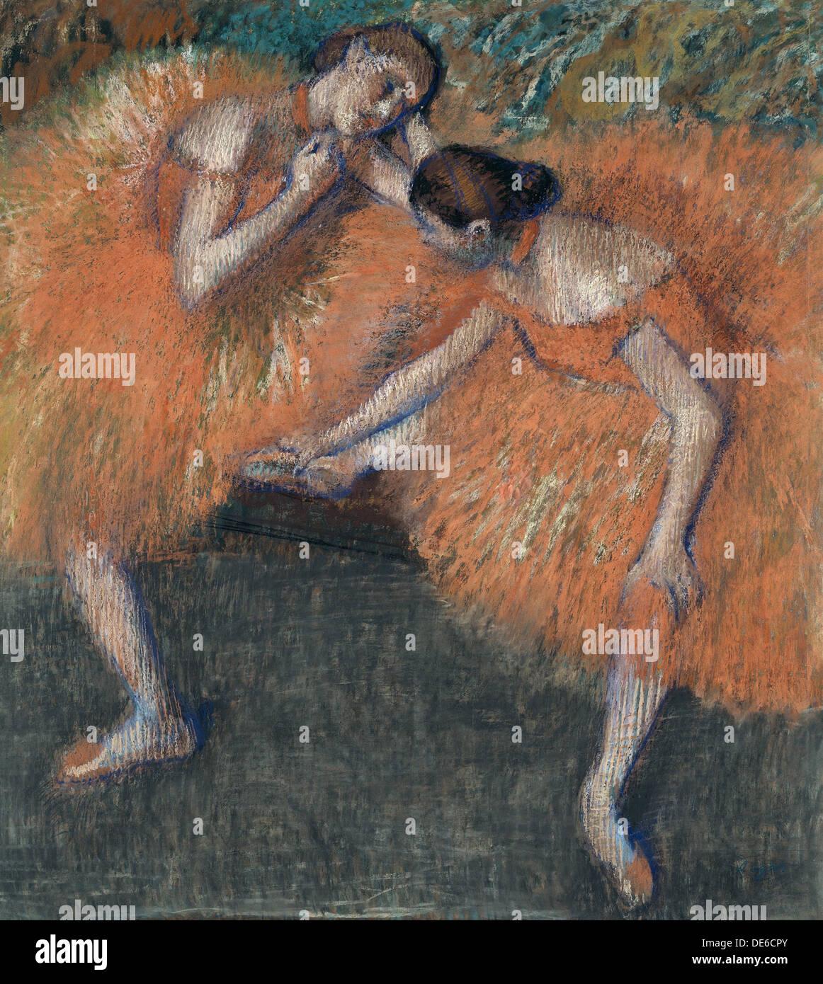 Two Dancers, c. 1898. Artist: Degas, Edgar (1834-1917) - Stock Image
