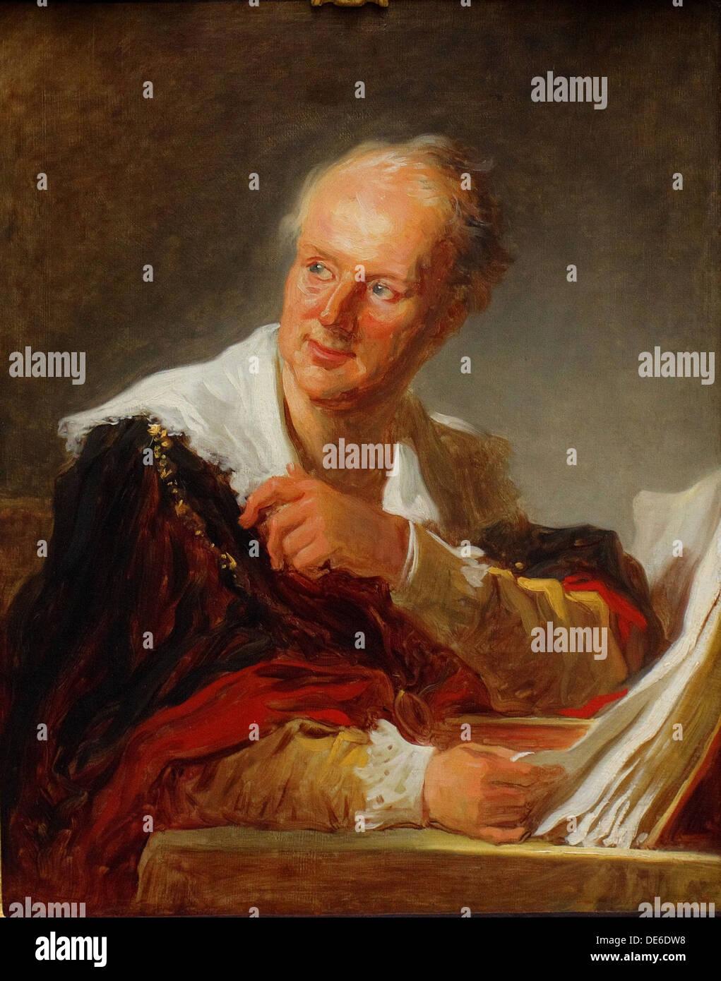 Portrait of Denis Diderot (1713–1784), ca 1769. Artist: