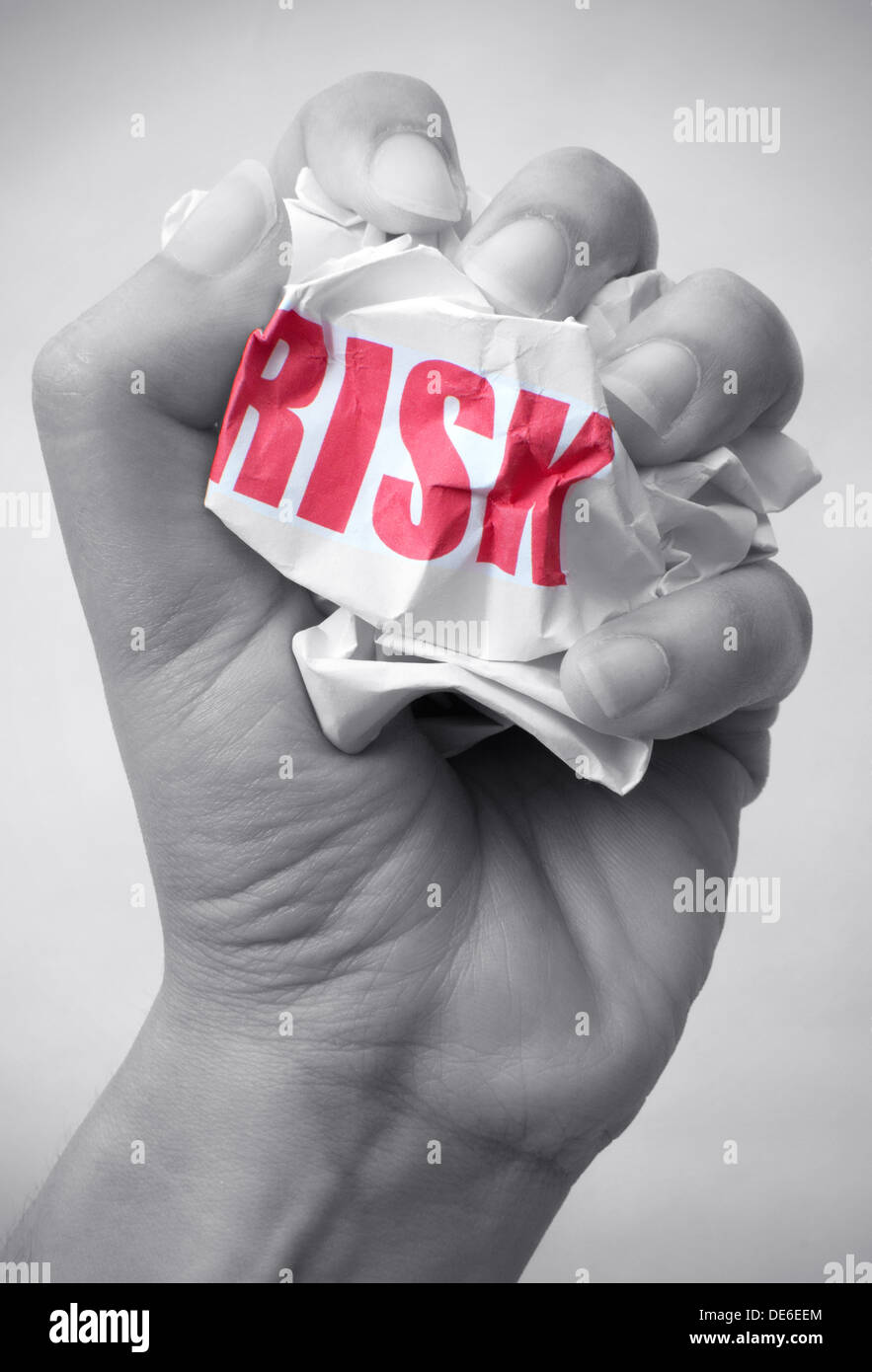 Minimizing risk concept - Stock Image