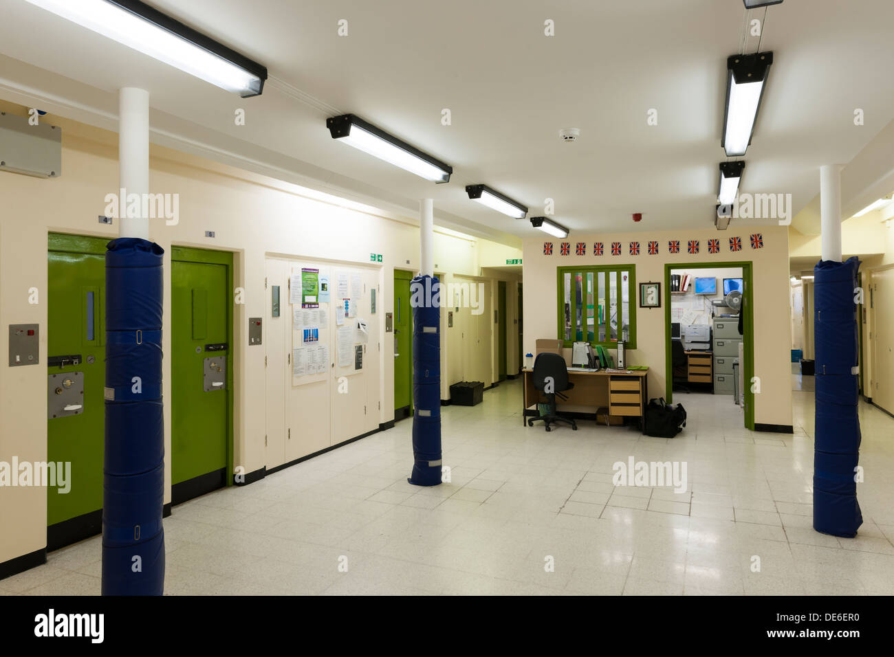 The Solitary Confinement wing of one of Her Majesty's Prisons in Lancashire, UK. - Stock Image