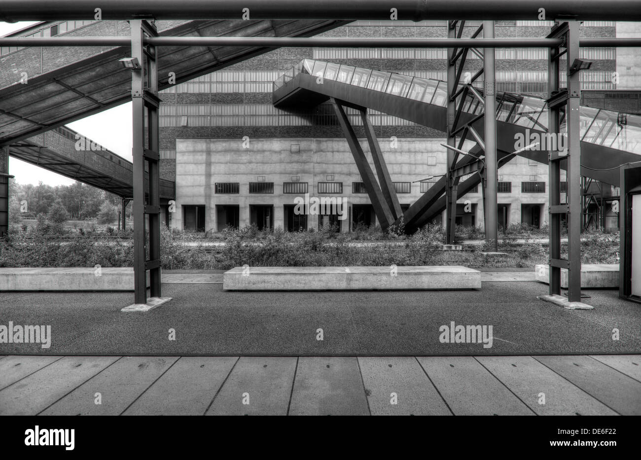 Industrial architecture in the Rhur region of Germany - Stock Image