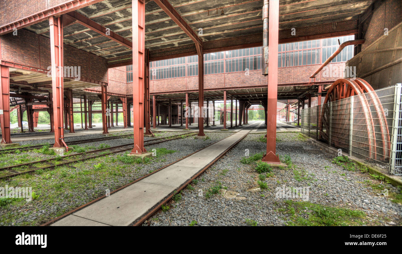 Deserted and derelict industrial heritage in the Ruhr region of Germany - Stock Image
