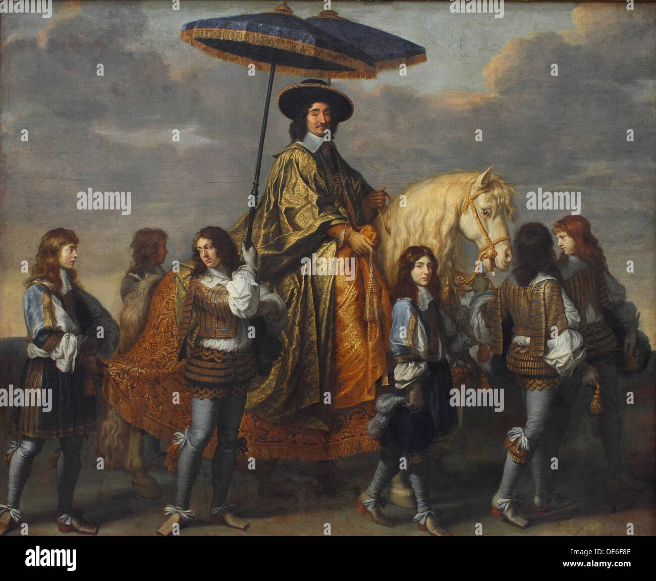 Chancellor Séguier at the Entry of Louis XIV into Paris, 1660. Artist: Le Brun, Charles (1619-1690) Stock Photo