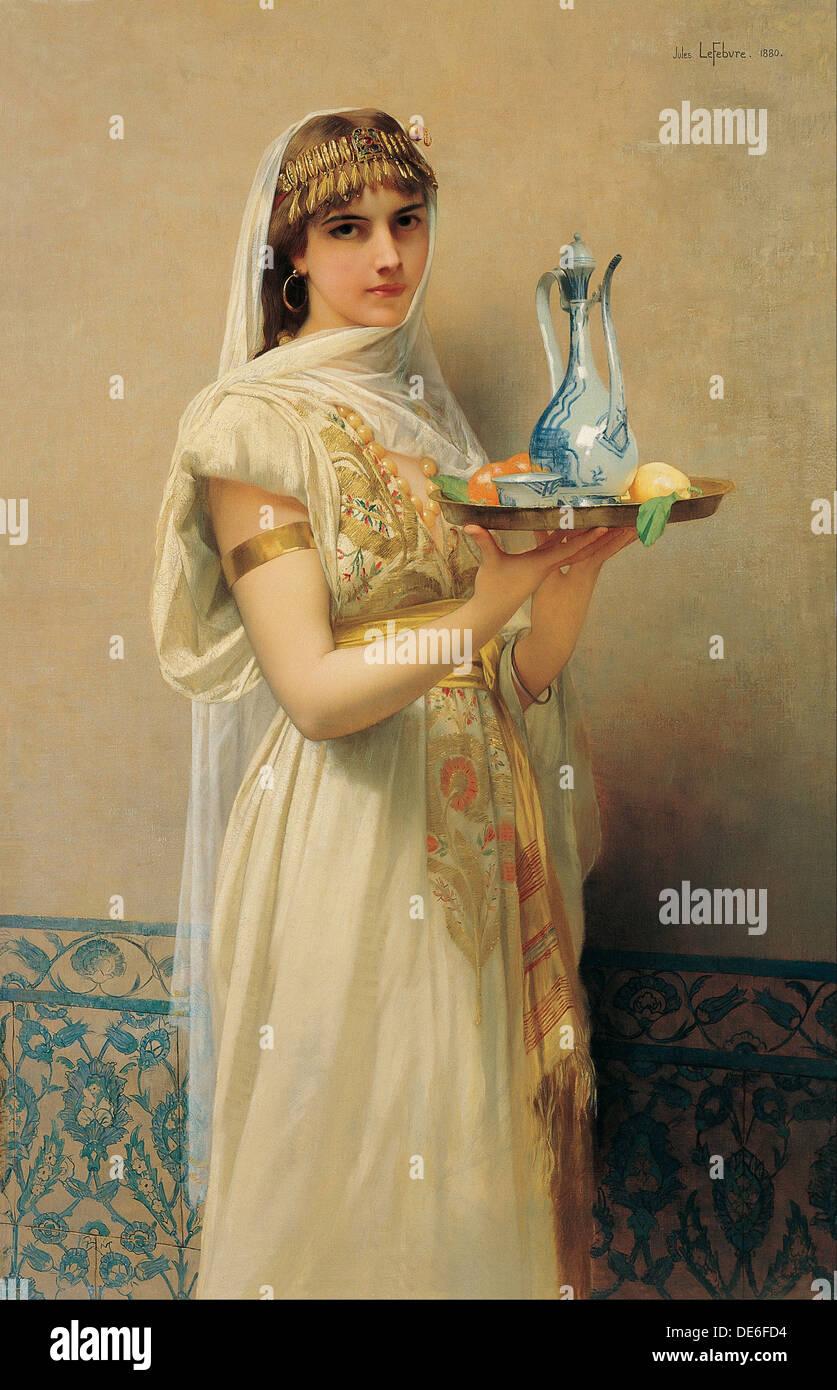 Servant, 1880. Artist: Lefebvre, Jules Joseph (1836-1911) - Stock Image