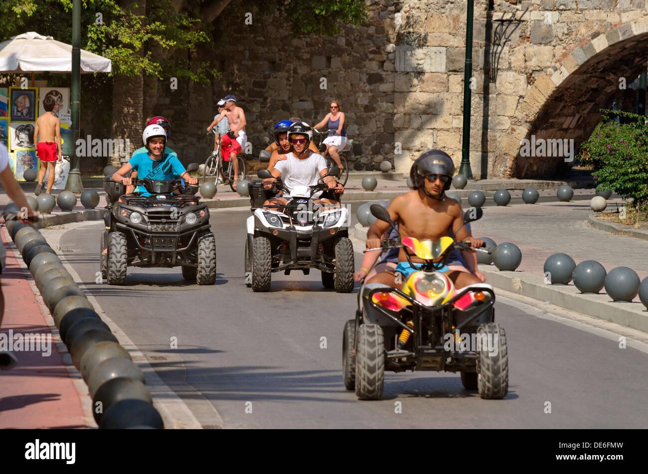 Rental Quad bikes in Kos town, Kos, Greece - Stock Image
