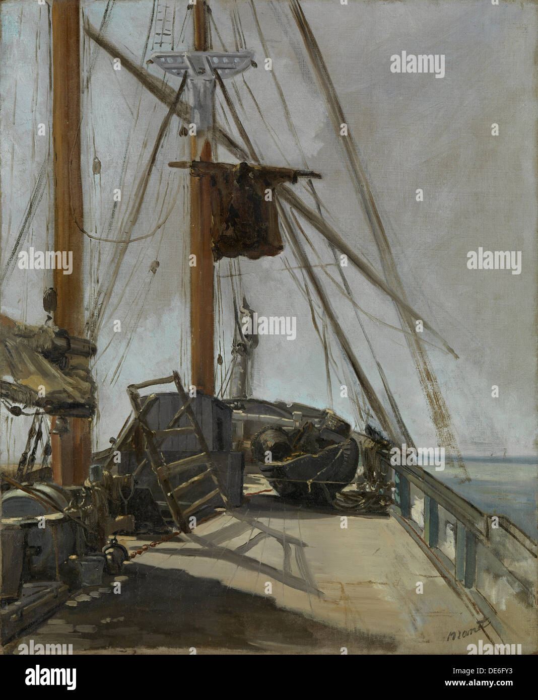 The ship's deck, ca 1860. Artist: Manet, Édouard (1832-1883) - Stock Image