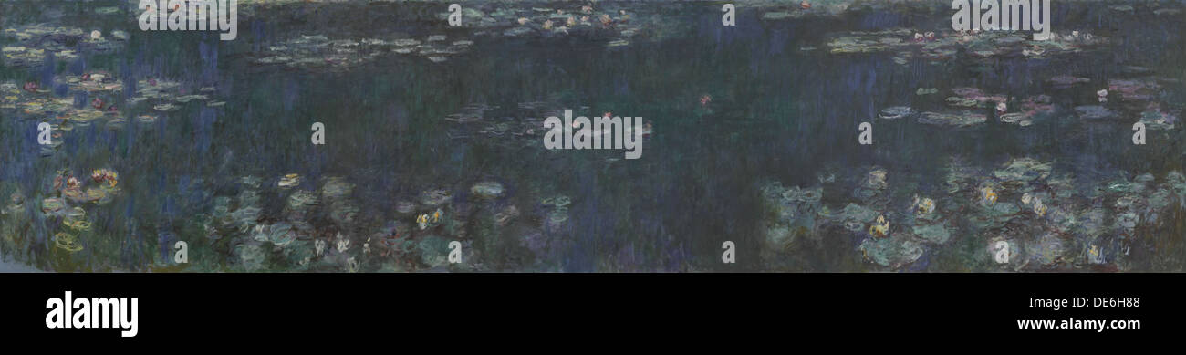 The Water Lilies - Green Reflections, 1914-1926. Artist: Monet, Claude (1840-1926) - Stock Image