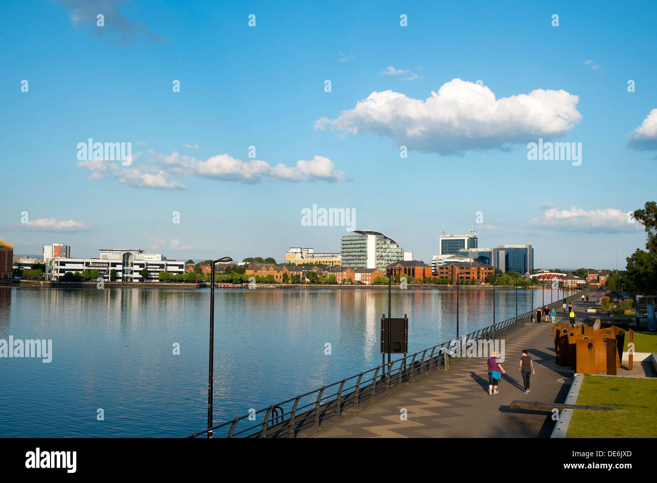 England, Greater Manchester, Salford quays - Stock Image