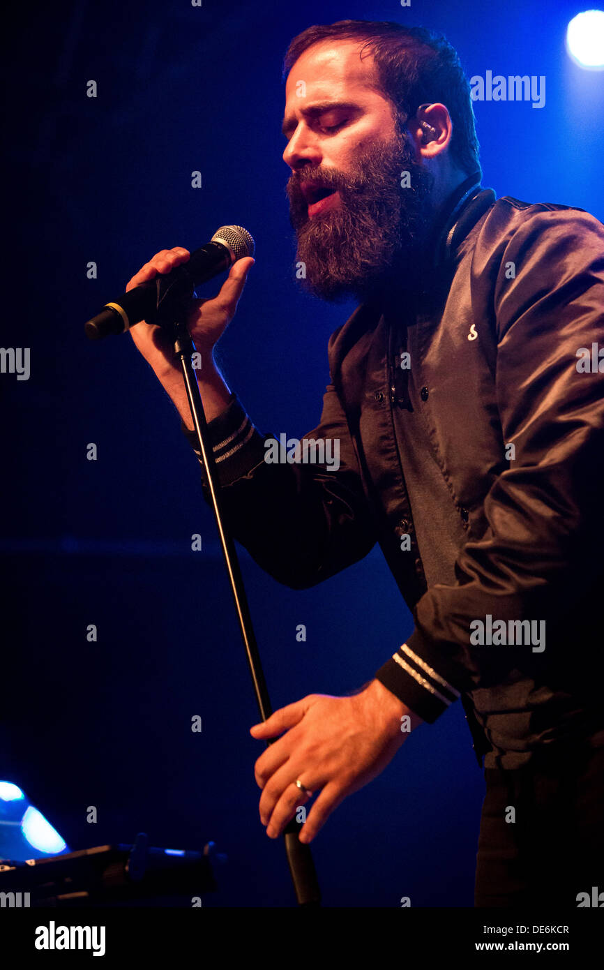 Milan Italy. 11th September 2013. The American indie pop duo CAPITAL CITIES performs live at Magazzini Generali - Stock Image