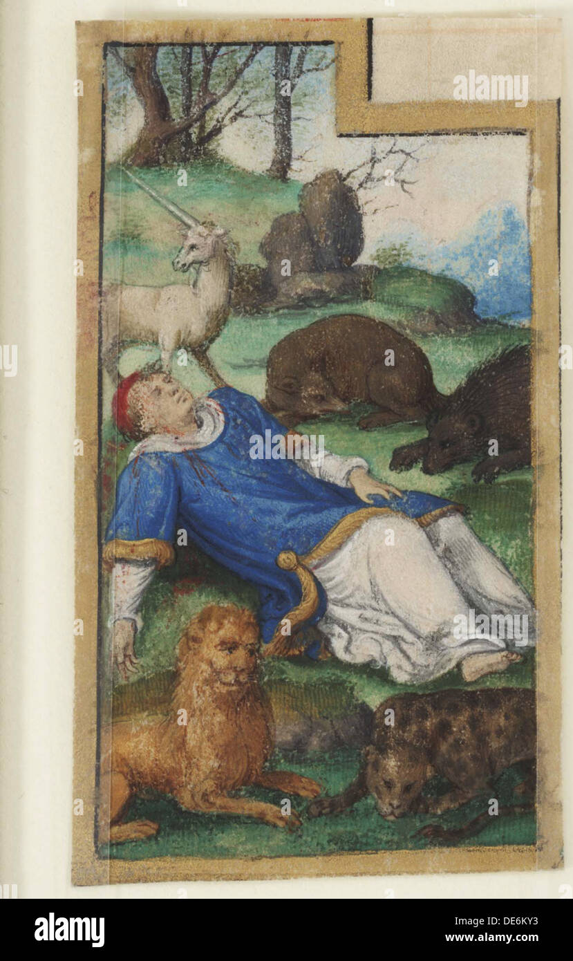 Saint Stephen the Protomartyr, 1525-1550. Artist: Anonymous - Stock Image