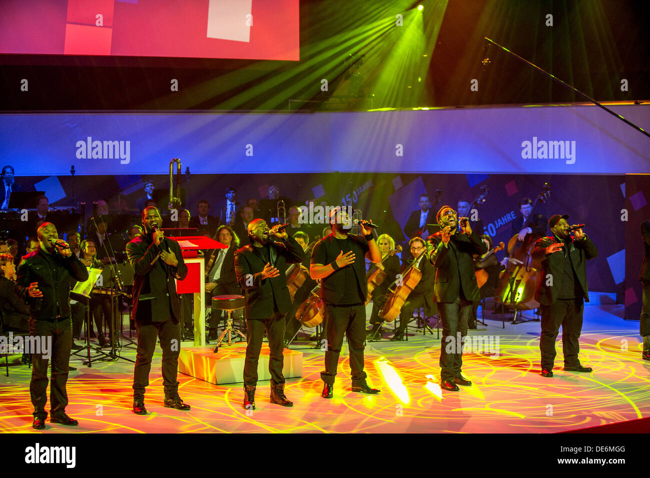 Leipzig, Germany, Naturally 7 at the Gewandhaus at the ceremony 150 years SPD - Stock Image
