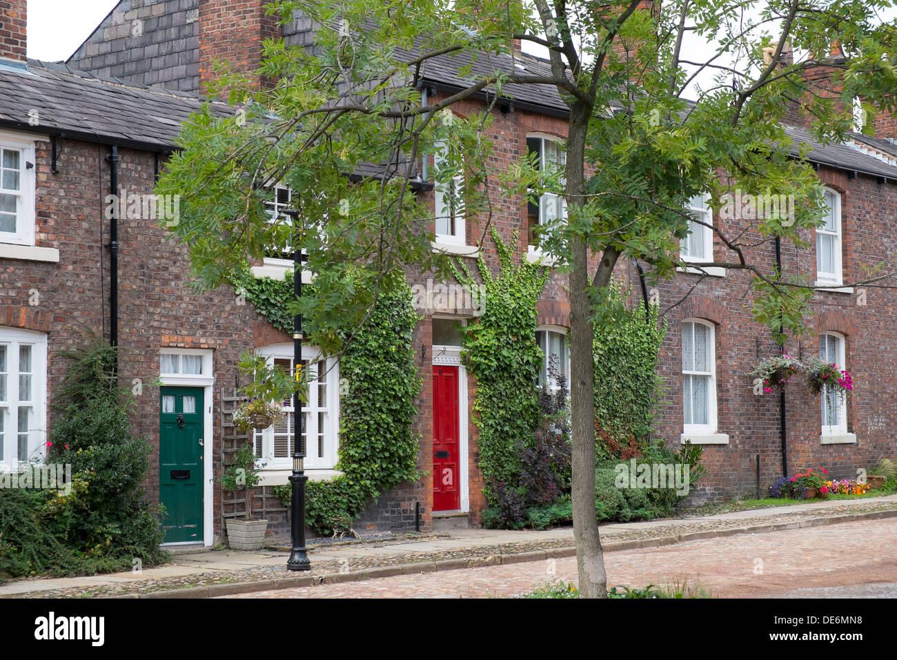 England, Greater Manchester, Droylsden, House in the Moravian Settlement - Stock Image