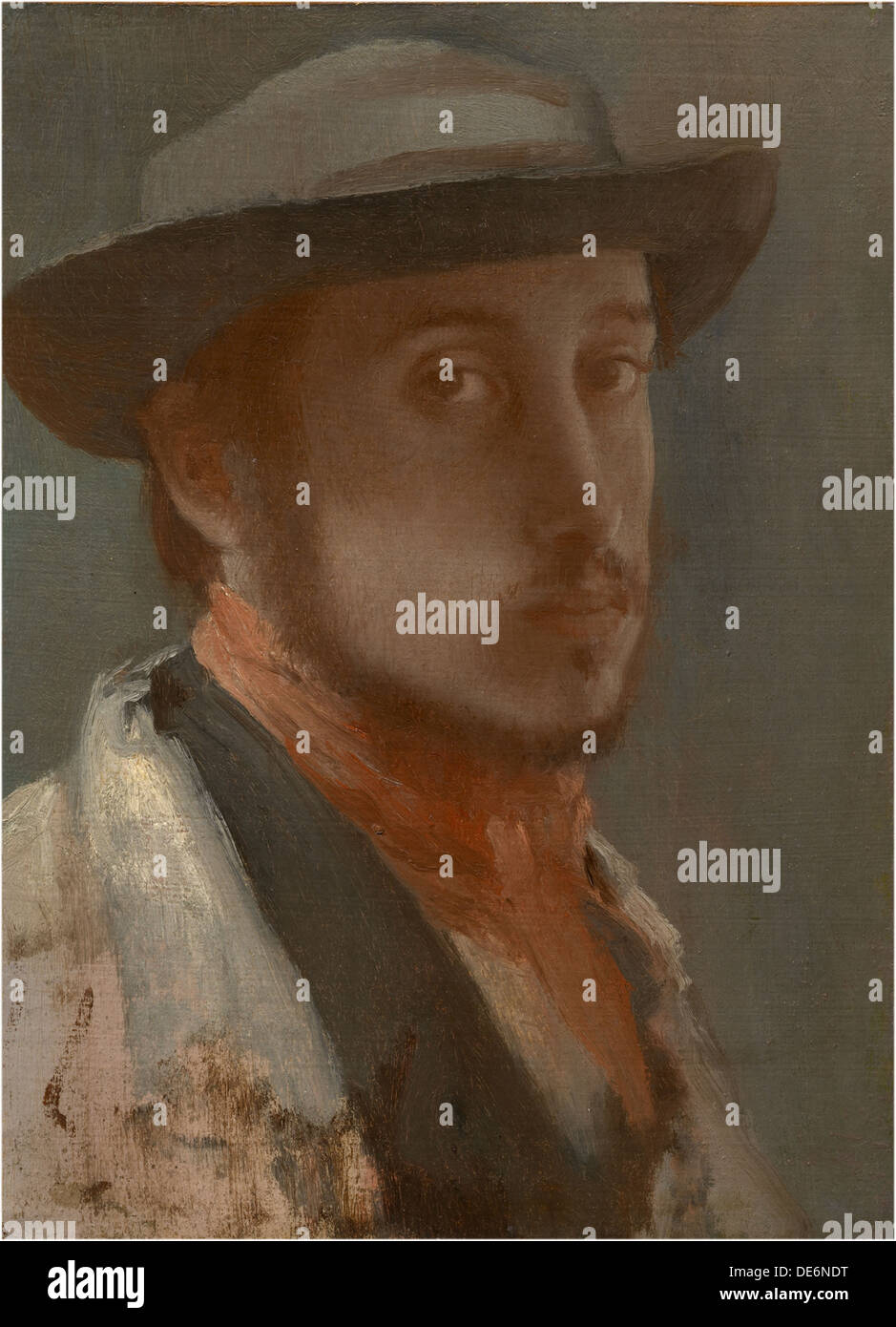 Self-Portrait, c. 1858. Artist: Degas, Edgar (1834-1917) - Stock Image