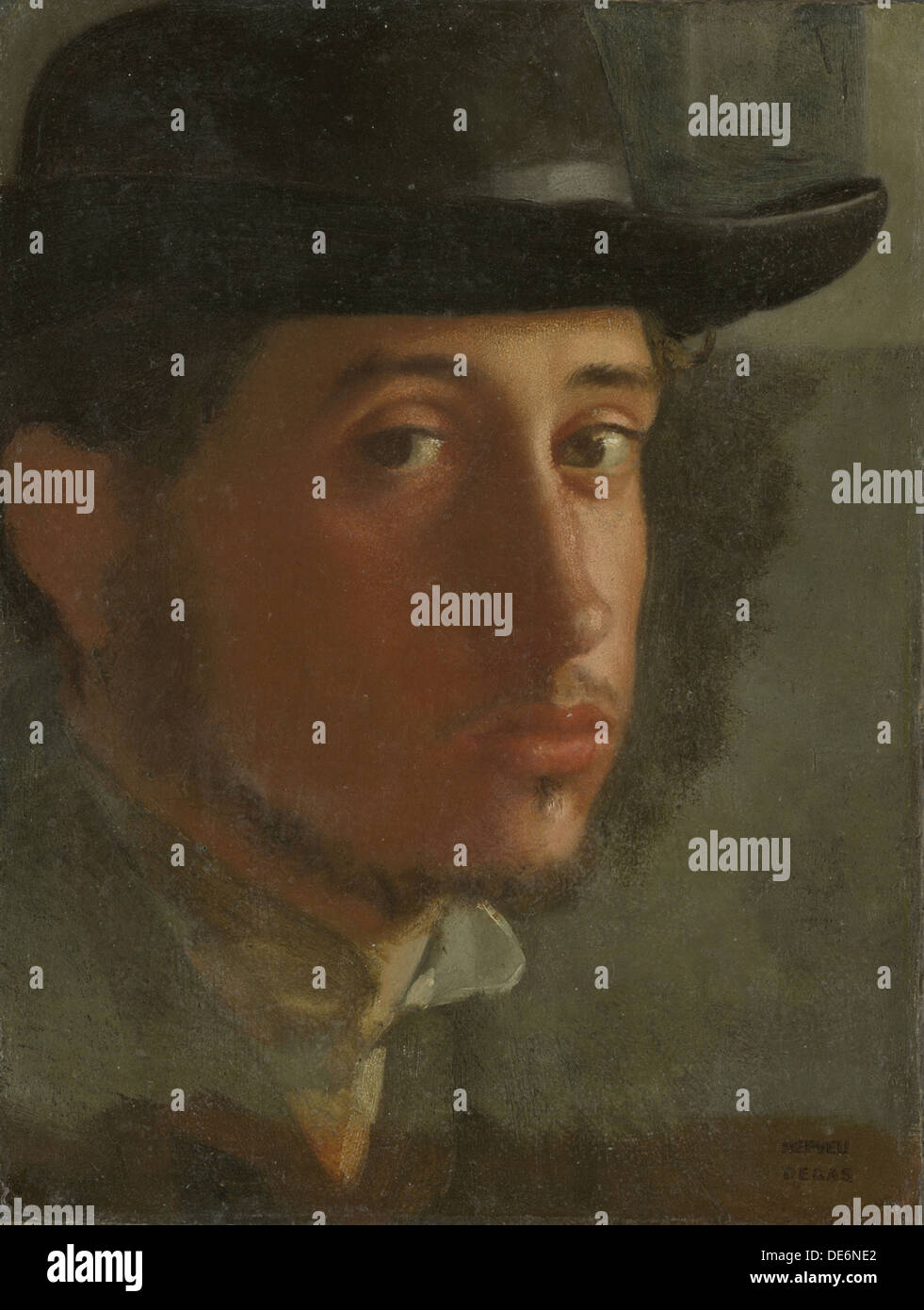 Self-Portrait, 1857. Artist: Degas, Edgar (1834-1917) - Stock Image