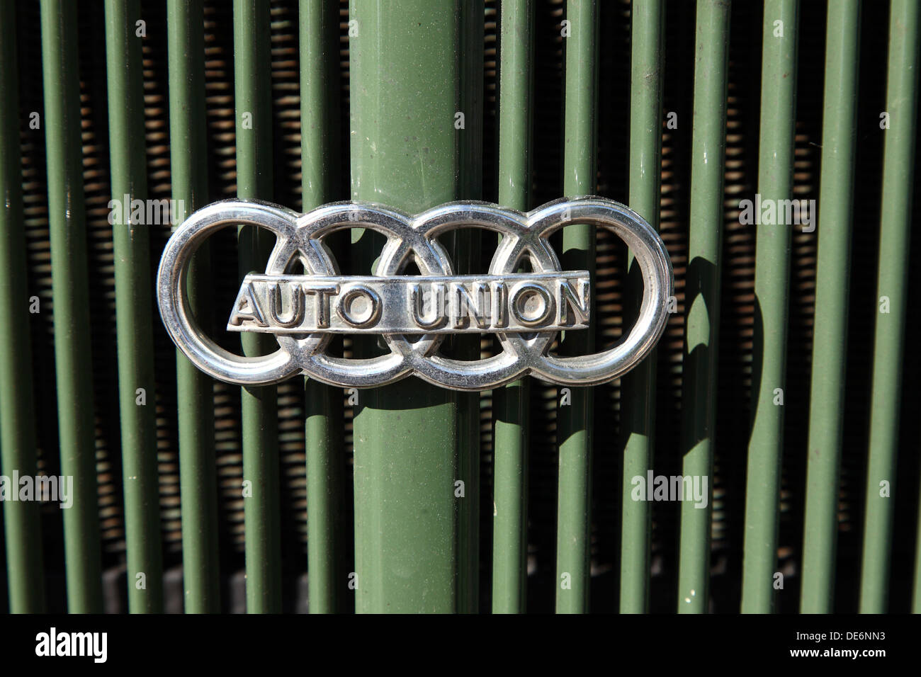 Pairs Root Ganglia Germany Logo Of Auto Union On A Grille Stock