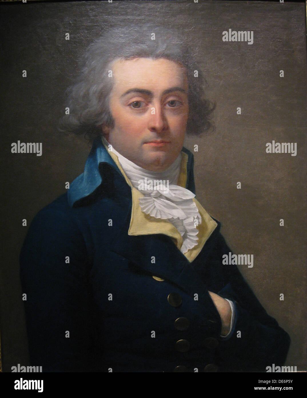 Portrait of Marie-Jean Hérault de Séchelles (1759-1794), Second Half of the 18th cen.. Artist: Laneuville, Jean Stock Photo
