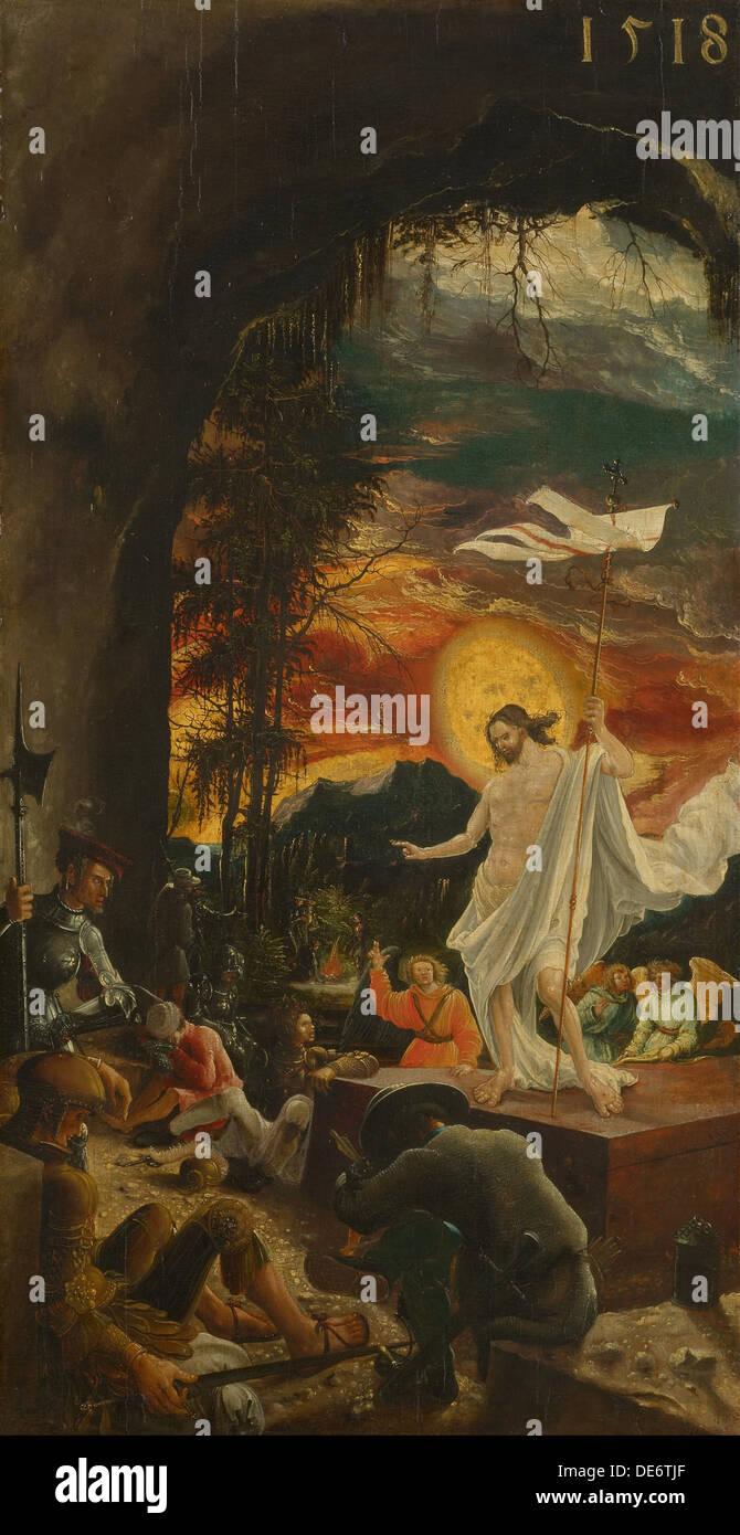 The Resurrection of Christ, 1518. Artist: Altdorfer, Albrecht (c. 1480-1538) - Stock Image