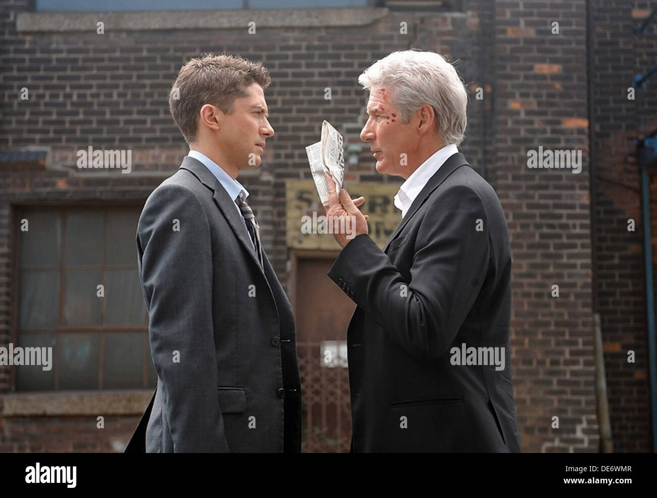 THE DOUBLE 2013 Studio Canal, BFI film with Topher Grace at left and Richard Gere - Stock Image
