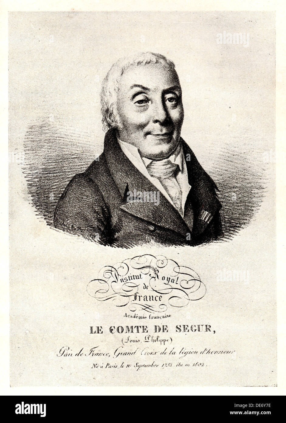 Portrait of Philippe Henri, marquis de Ségur (1724-1801), Early 19th cen.. Artist: Anonymous - Stock Image