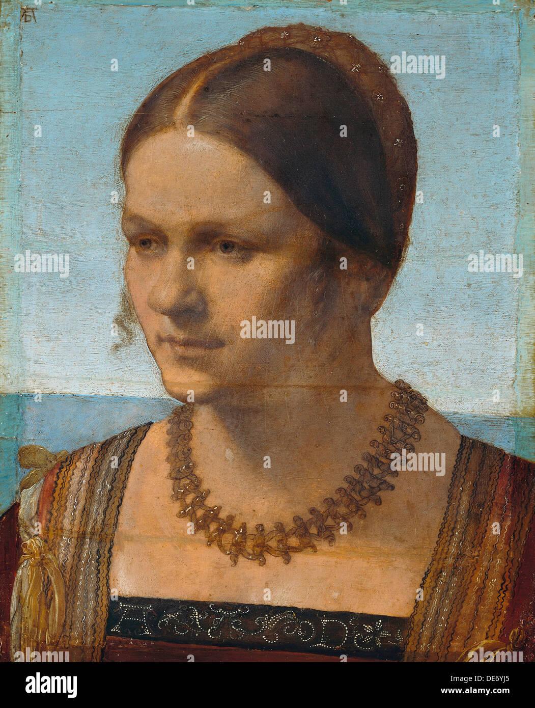 Portrait of a Young Venetian Lady, 1506. Artist: Dürer, Albrecht (1471-1528) - Stock Image