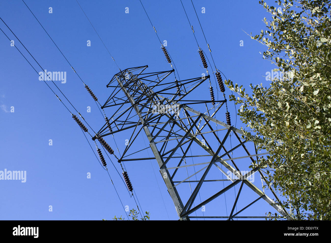 High Voltage Power Lines Along Stock Photos Amp High Voltage