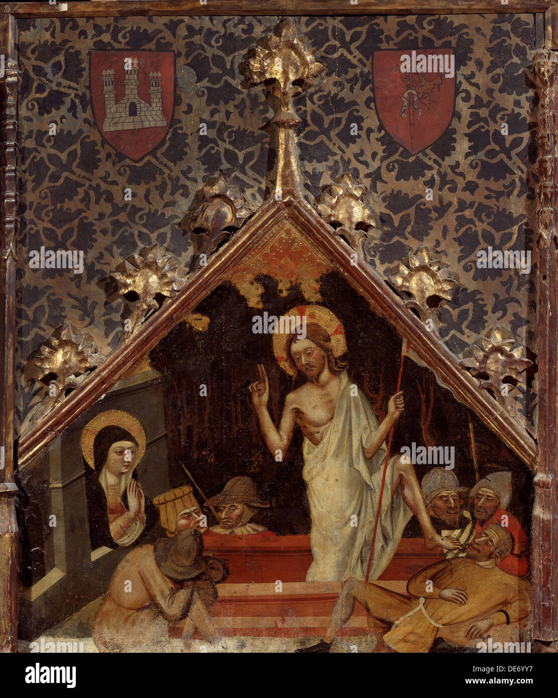 The Resurrection of Christ, 15th century. Artist: German master - Stock Image