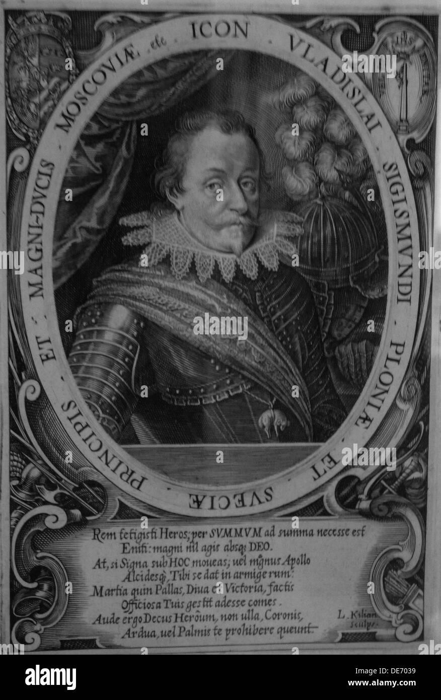 King Wladyslaw IV Vasa of Poland (1595-1648), Tsar of Russia, before 1632. Artist: Kilian, Lucas (1579-1637) - Stock Image