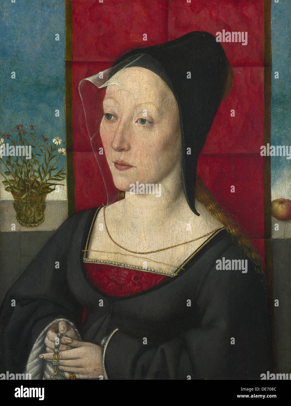 Portrait of a Woman, c. 1495. Artist: Master of Cologne (active ca 1500) - Stock Image