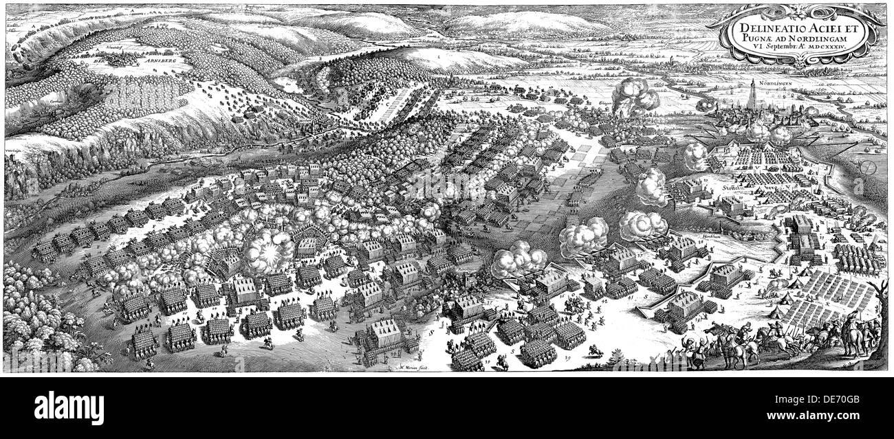 The Battle of Nördlingen on 6 September 1634, 1670. Artist: Merian, Matthäus, the Elder (1593-1650) Stock Photo