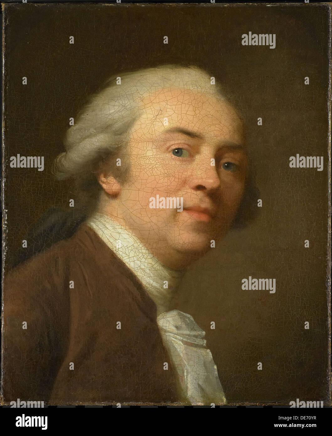 Self-Portrait, 1782. Artist: Tischbein, Johann Friedrich August (1750-1812) - Stock Image