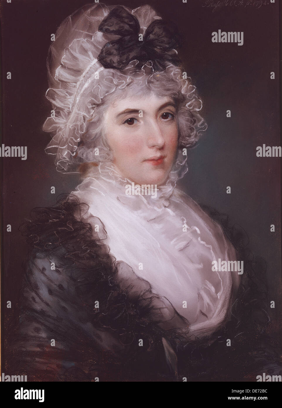 Portrait of Mrs Janet Grizel, 1794. Artist: Russell, John (1745-1806) - Stock Image