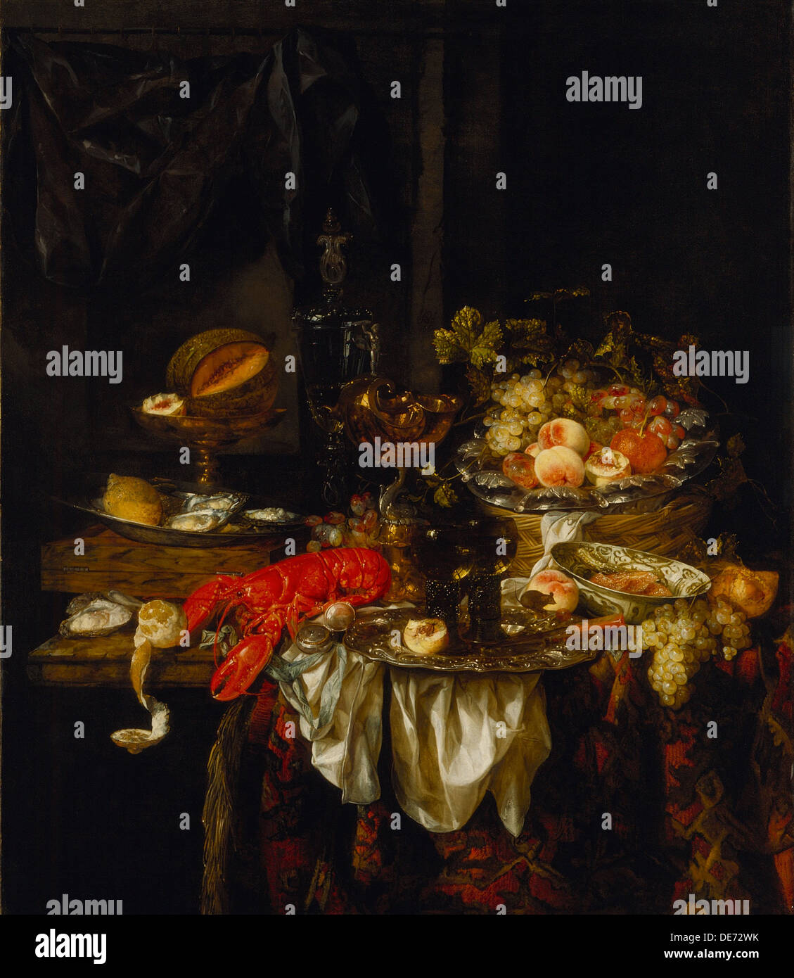 Banquet Still Life, 1667. Artist: Beijeren, Abraham Hendricksz, van (1620/21-1690) - Stock Image