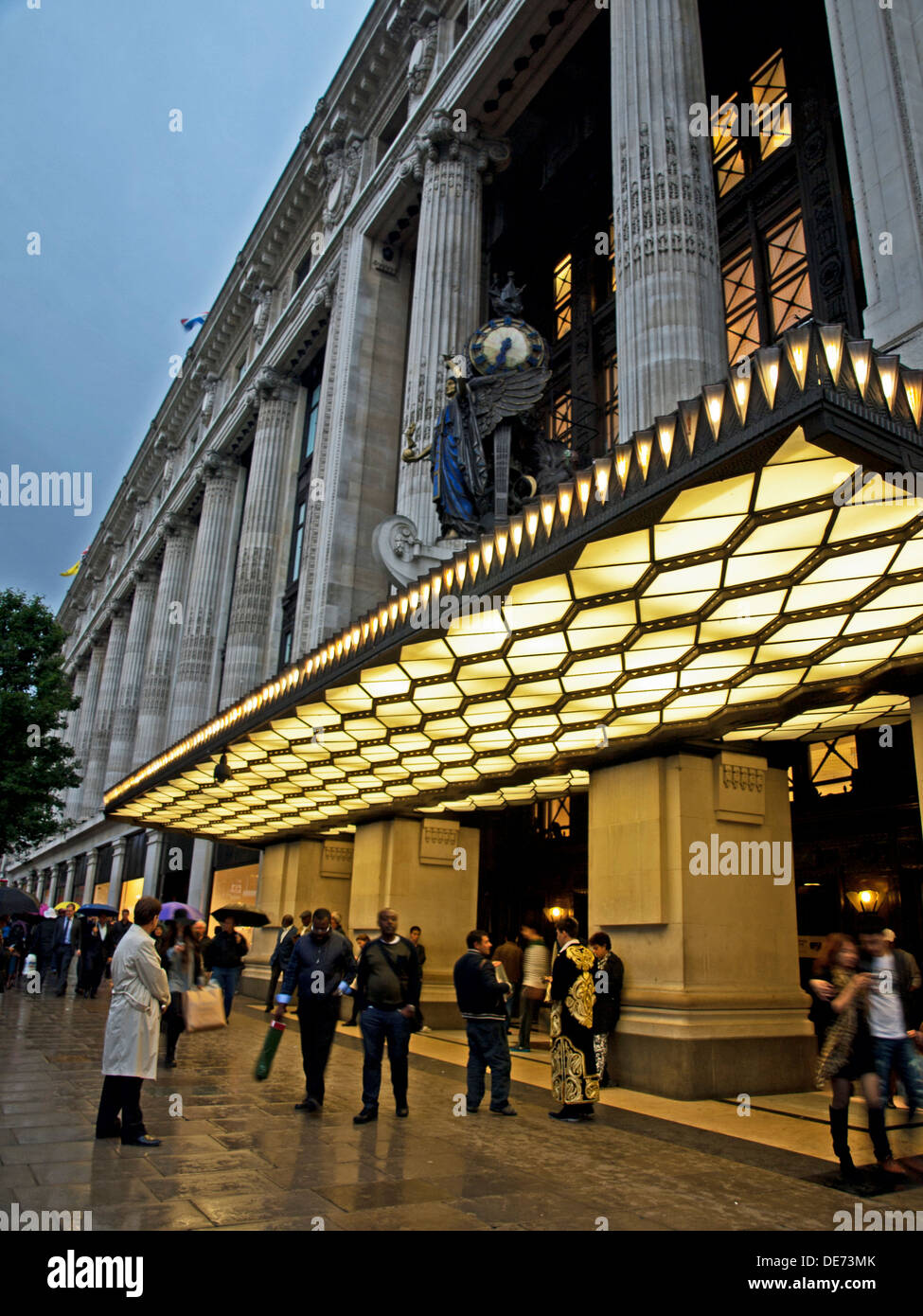 Entrance of Selfridge's Department Store, Oxford Street, City of Westminster, London, England, United Kingdom - Stock Image