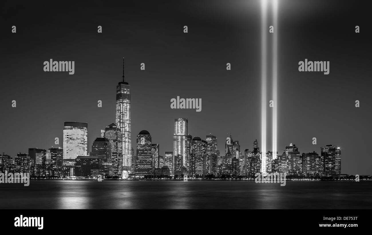 Tribute in Light, 2013 - Stock Image