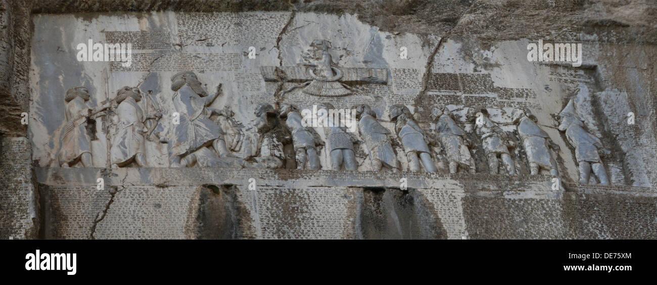 Darius I the Great. The Behistun Inscription, 6th century BC. Artist: Assyrian Art - Stock Image
