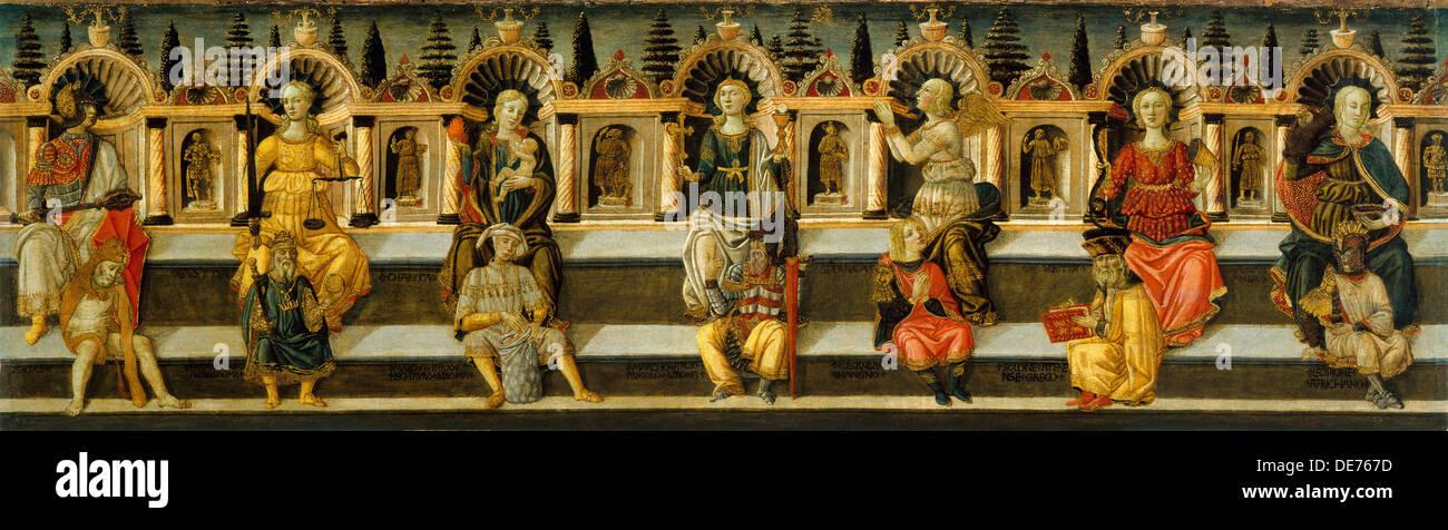 The Seven Virtues, c. 1467-1469. Artist: Guidi (called Scheggia), Antonfrancesco (1441-1476) - Stock Image